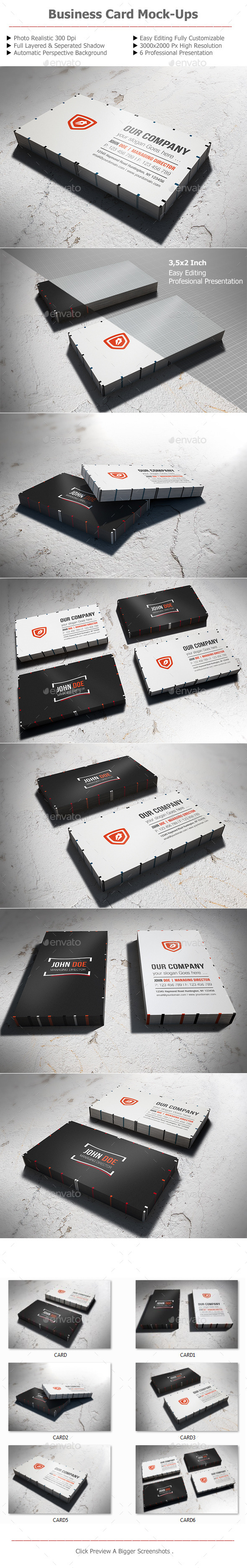 GraphicRiver Business Card Mock-Up v1 11331436