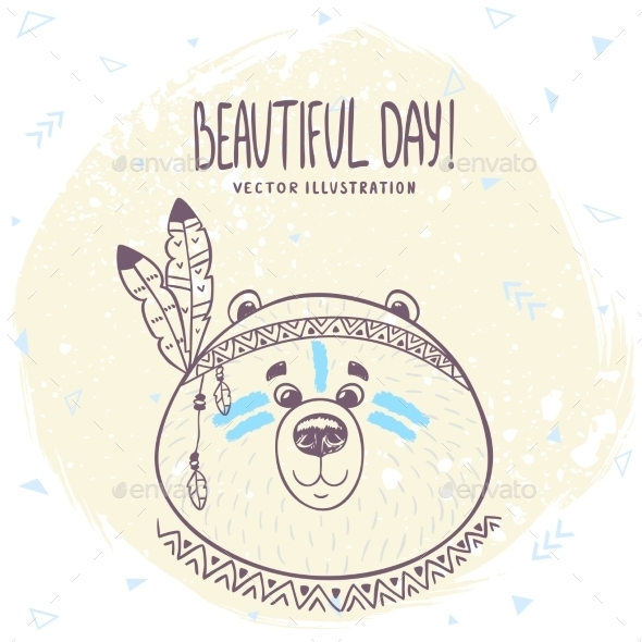 GraphicRiver Bear Doodle 11331477