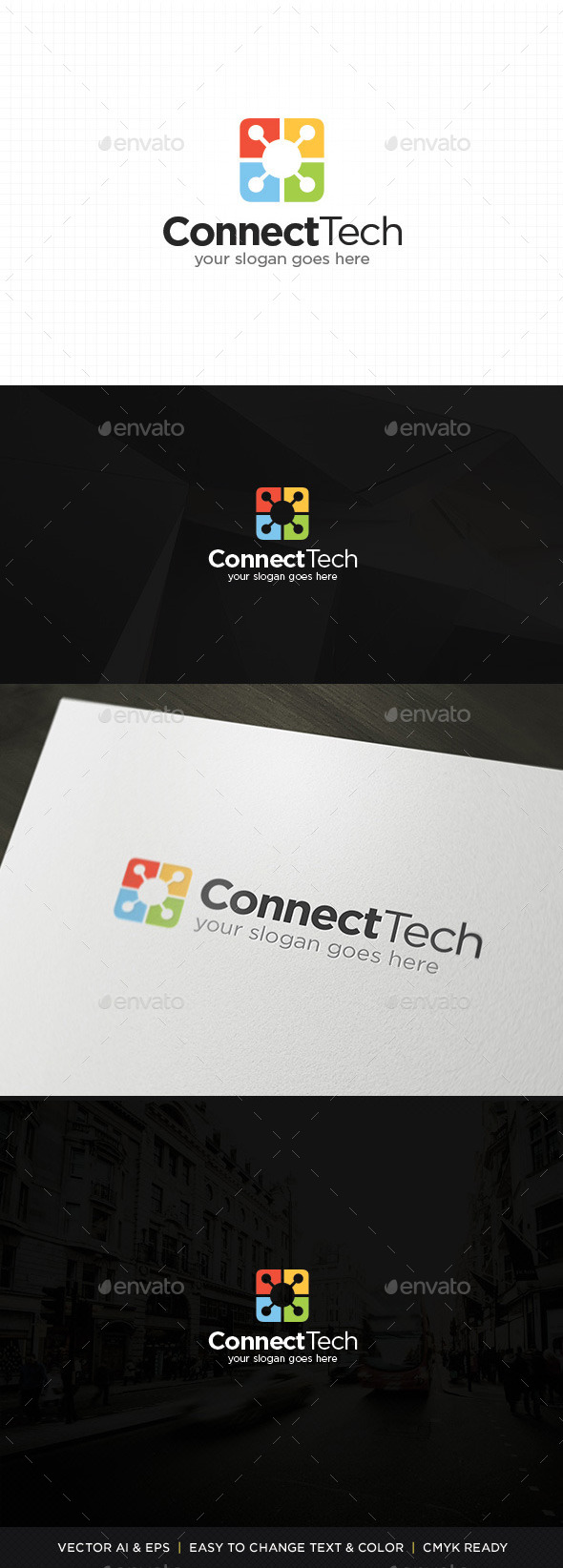 GraphicRiver Connect Technology Logo 11331509
