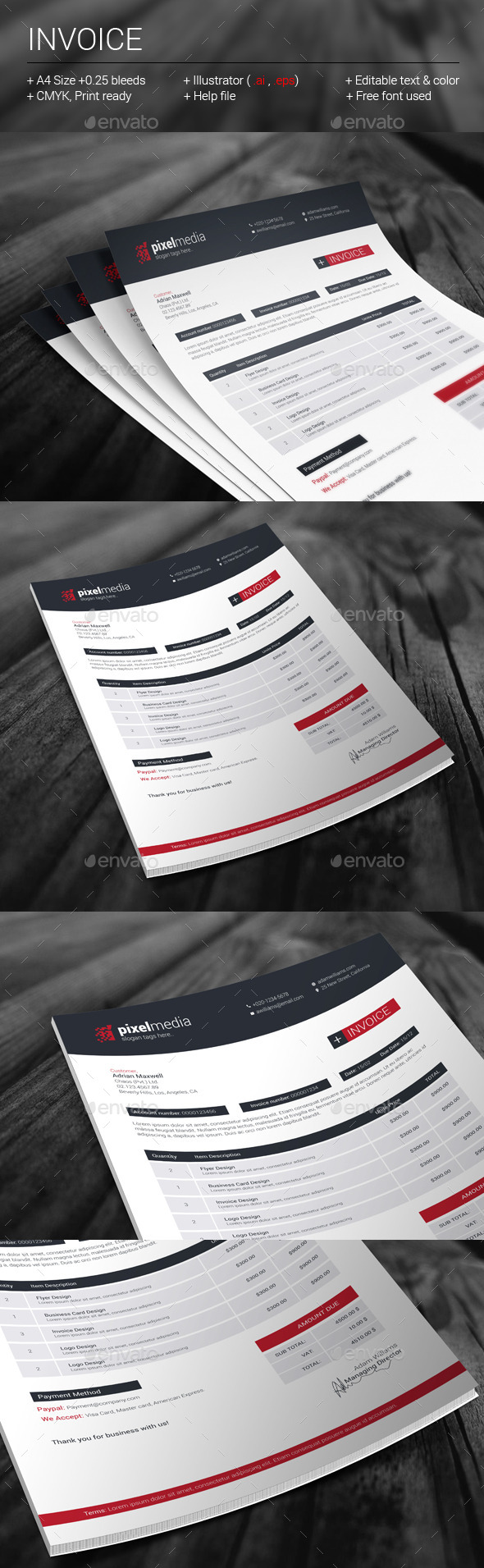 GraphicRiver Invoice 11331521
