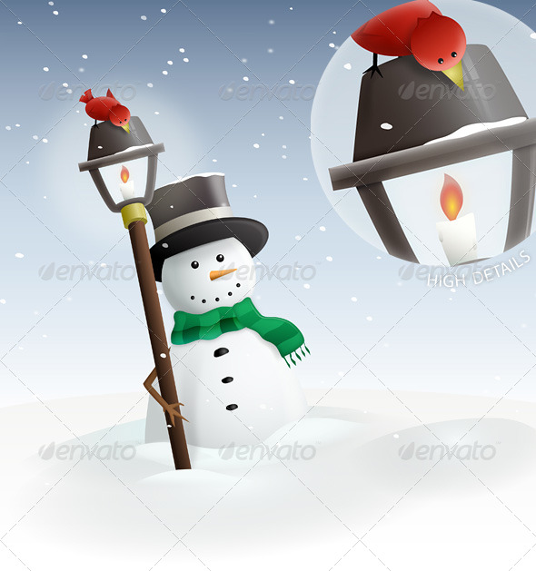 GraphicRiver Winter Land Snowman 139960