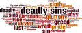 Deadly Sins Word Cloud Concept - PhotoDune Item for Sale