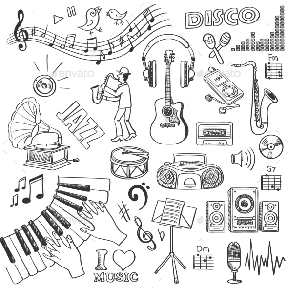 GraphicRiver Hand Drawn Music 11331783