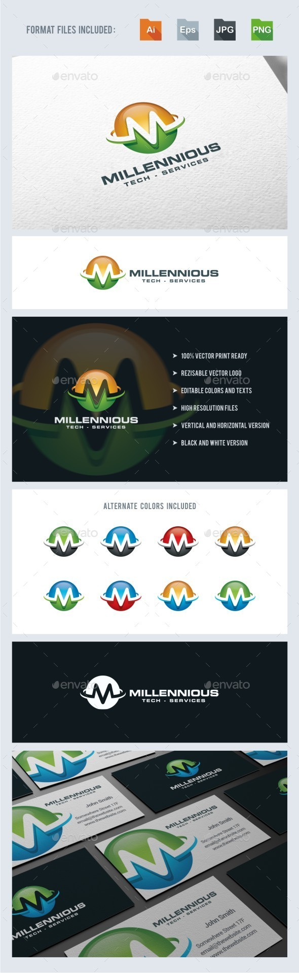 GraphicRiver M Letter Sphere Logo Template 11331822