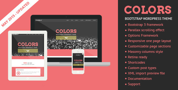 Colors - Bootstrap WordPress Theme - Creative WordPress
