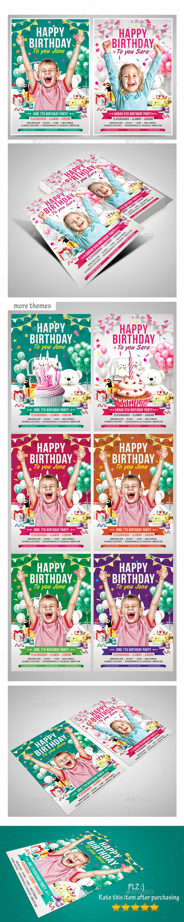 GraphicRiver Kids Birthday Party 11332117