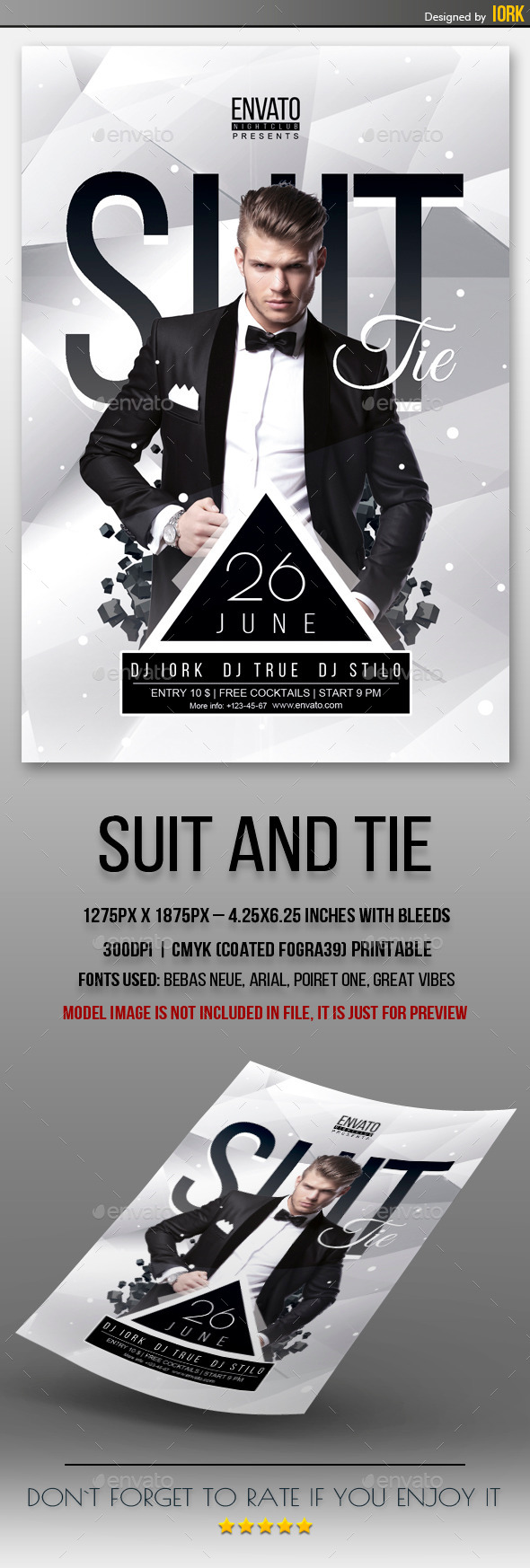 GraphicRiver Suit and Tie Party Flyer 11332512