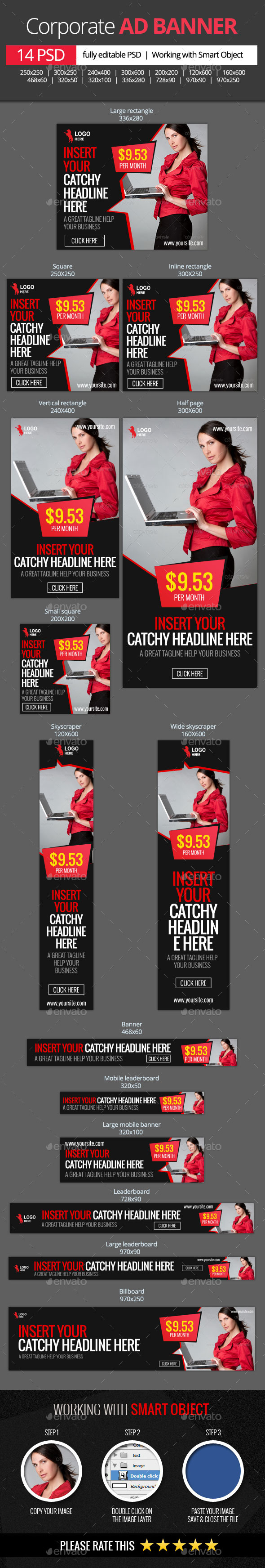 GraphicRiver Corporate and Business web banners 11332554