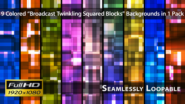 Broadcast Twinkling Squared Blocks Pack 01