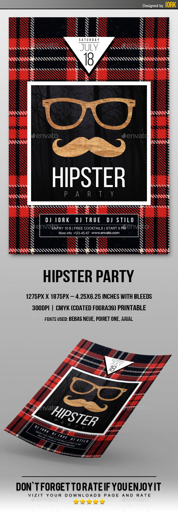 GraphicRiver Minimal Hipster Party Flyer 11332666