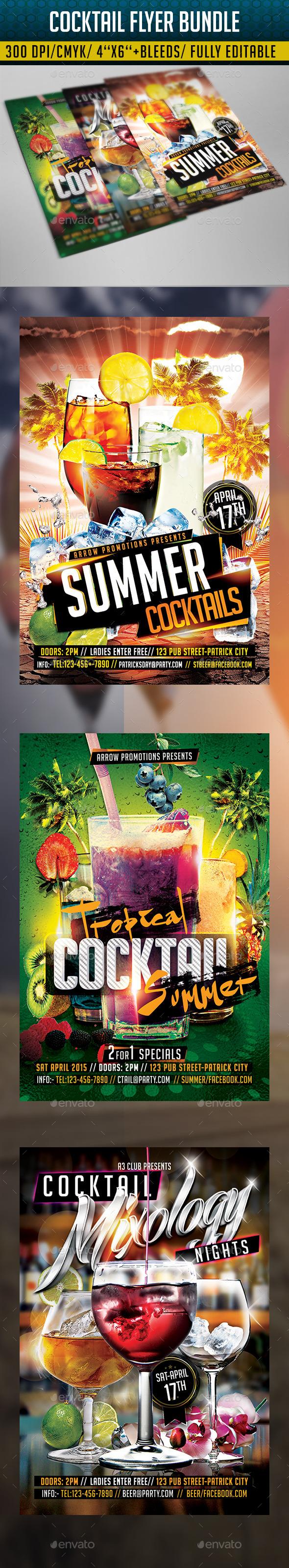 GraphicRiver Cocktail Flyer Bundle 2 11332707