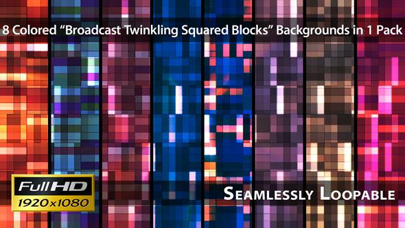 Broadcast Twinkling Squared Blocks Pack 02