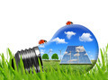Solar panels and wind turbines in light bulb - PhotoDune Item for Sale