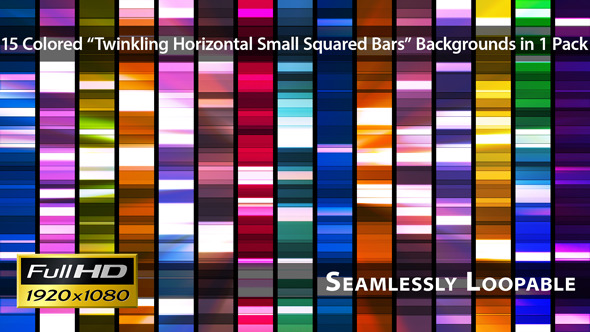 Twinkling Horizontal Small Squared Bars Pack 02