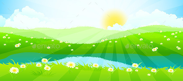 GraphicRiver Green Landscape 11333214