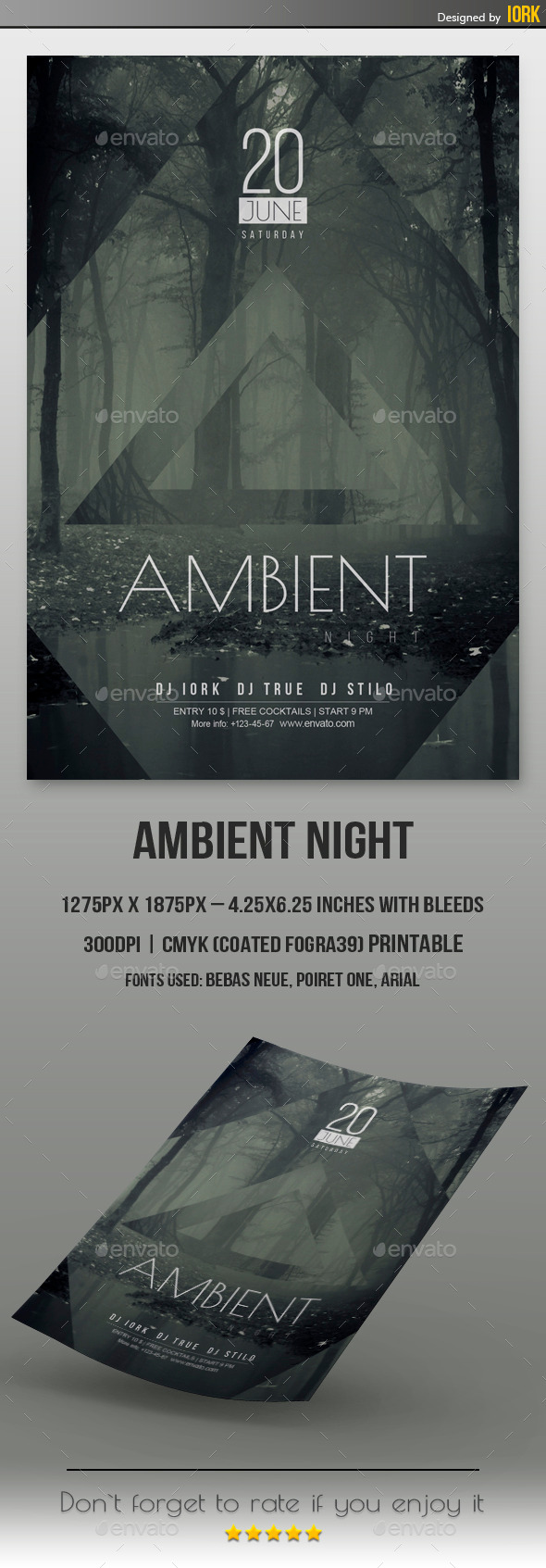 GraphicRiver Minimal Ambient Night Flyer 11333256