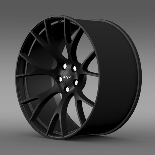 Dodge Challenger Supercharged rim - 3DOcean Item for Sale