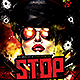Stop Hands Up | Flyer Template PSD