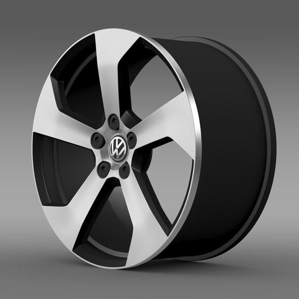 3DOcean Volkswagen Golf GTI rim 11333453