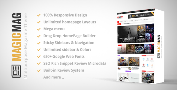 Magic - Responsive WordPress News, Magazine, Blog Theme