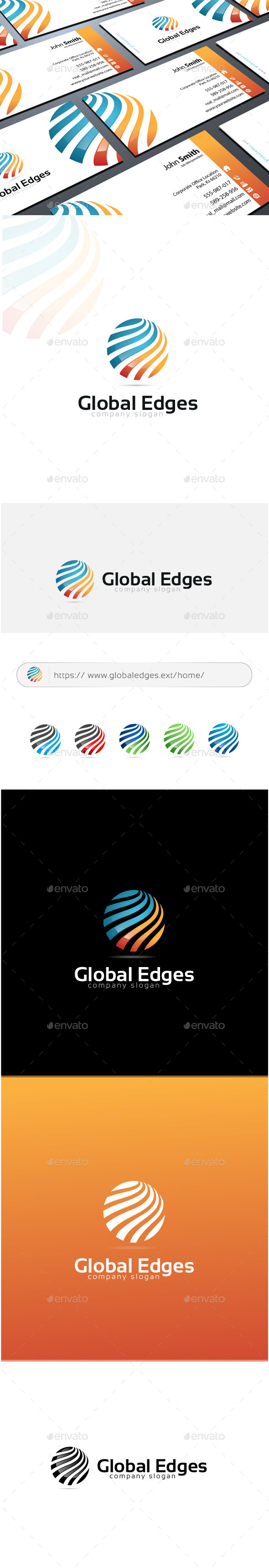GraphicRiver Global Edges Logo 11334621