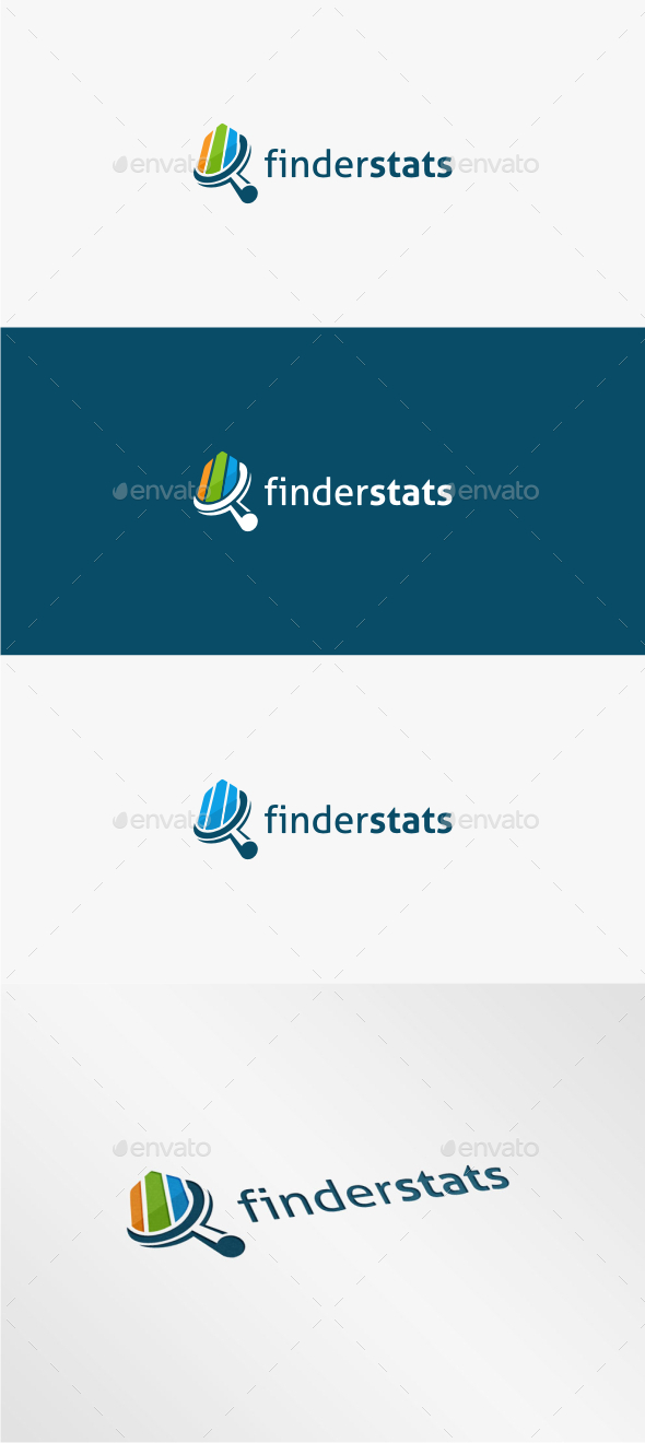 GraphicRiver Finder Stats Logo Template 11334699