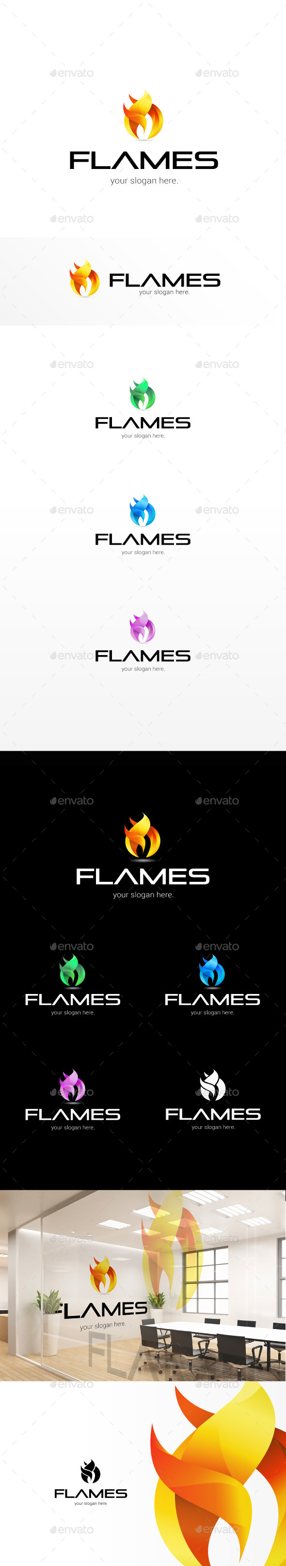 GraphicRiver Flames Modern Logo Template 11322387
