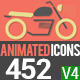 Animated Icons 452 - VideoHive Item for Sale