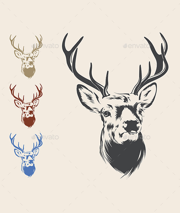 GraphicRiver Deer Head 11335567