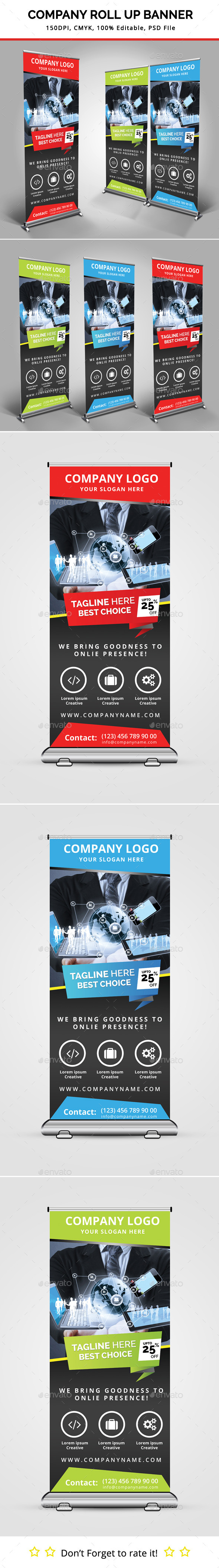 GraphicRiver Company Roll Up Banner 11335570