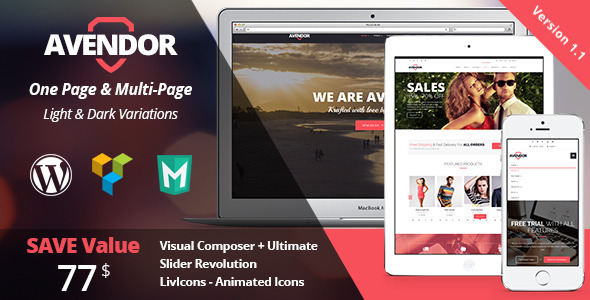 AVENDOR - WordPress Responsive Multi purpose Theme