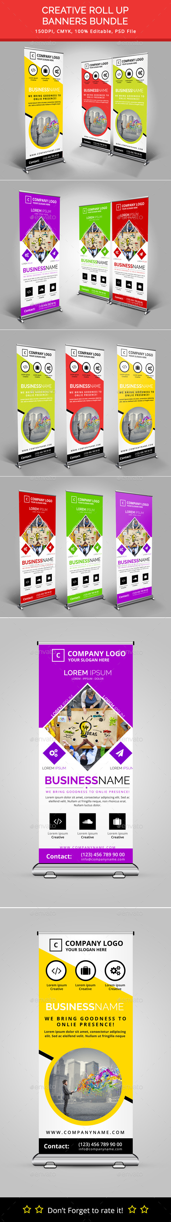 GraphicRiver Bundle of 2 Rollup Banners 11335594