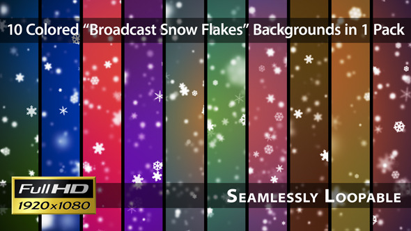 Broadcast Snow Flakes Pack 01