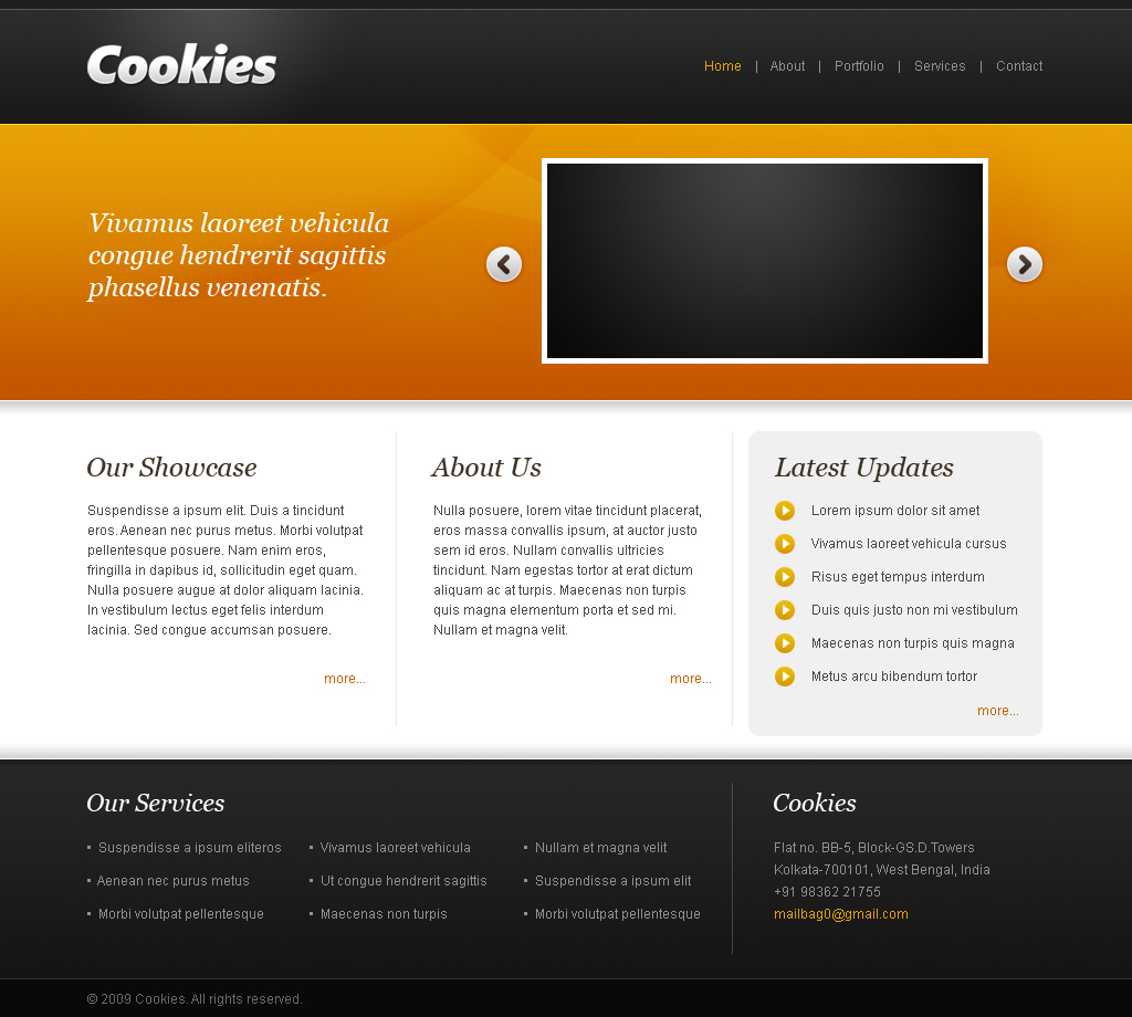 Cookies - The Portfolio Template