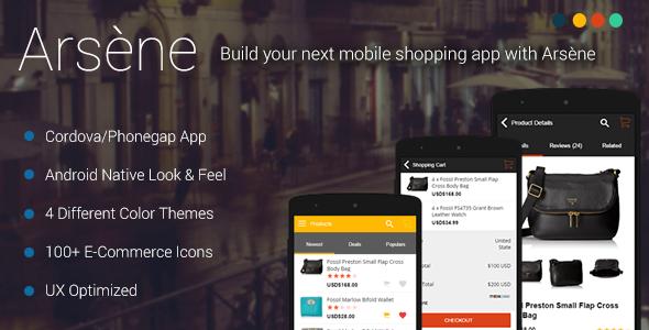 CodeCanyon ArsЁЁne eCommerce Mobile App Theme 11156378