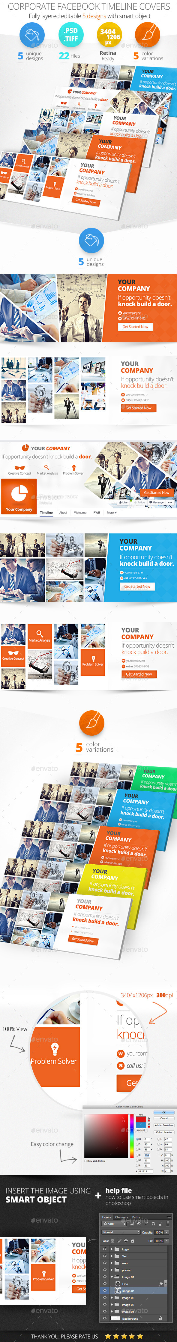GraphicRiver Corporate Facebook Timeline Covers 11335918