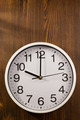 wall clock on wood - PhotoDune Item for Sale