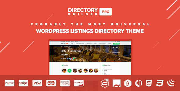ThemeForest Directory Builder Classified Listings & Events 11084578