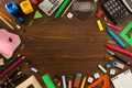 school supplies on wood - PhotoDune Item for Sale