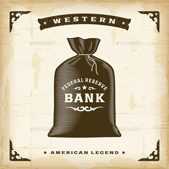 GraphicRiver Vintage Western Money Bag 11336159