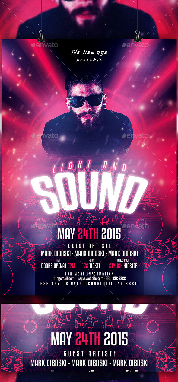 GraphicRiver Light And Sound Flyer Template 11336328