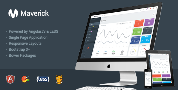 ThemeForest Maverick Responsive Admin with AngularJS 11336355