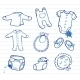 Infant Clothes Icon Set  - GraphicRiver Item for Sale