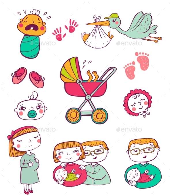 GraphicRiver Infant Icon Set 11336635