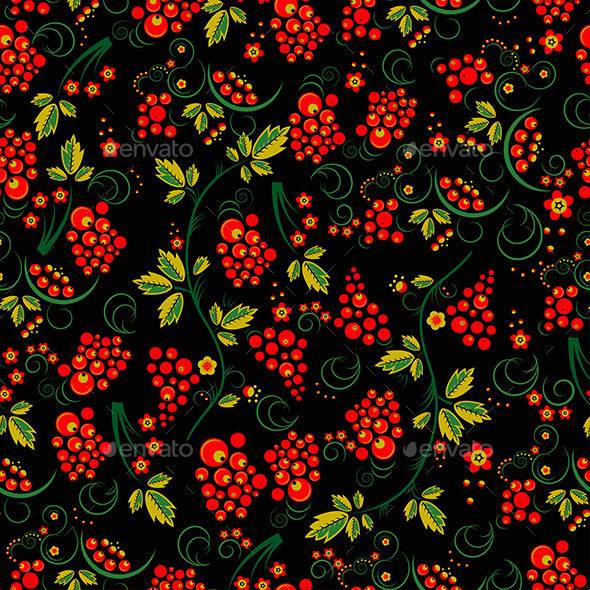 GraphicRiver Seamless Pattern in the Style of Khokhloma 11336639