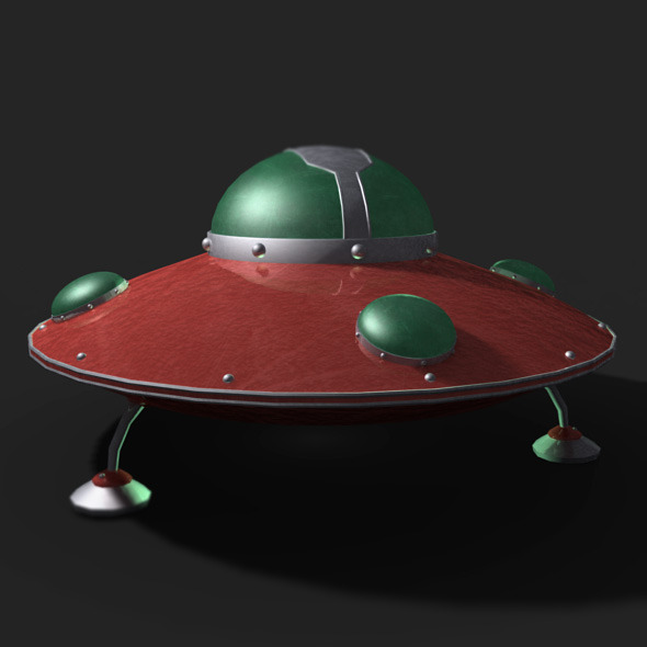 3DOcean Retro UFO Model 11336753