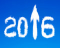 2016 arrow up sign shape white clouds on blue sky - PhotoDune Item for Sale