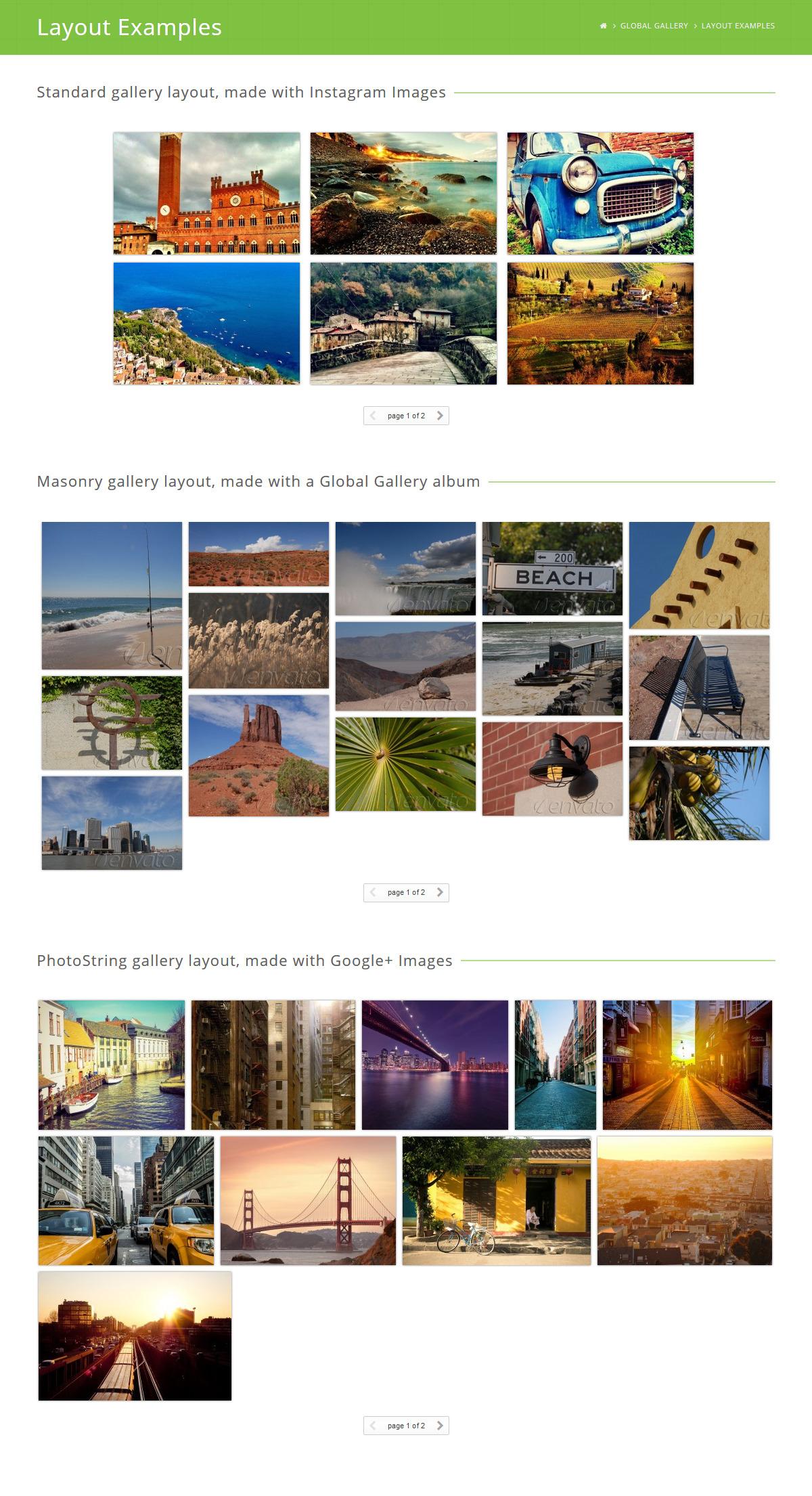 Global Gallery - Wordpress Responsive Gallery