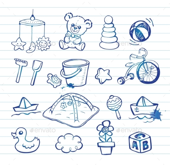 GraphicRiver Infant Icon Set 11337221