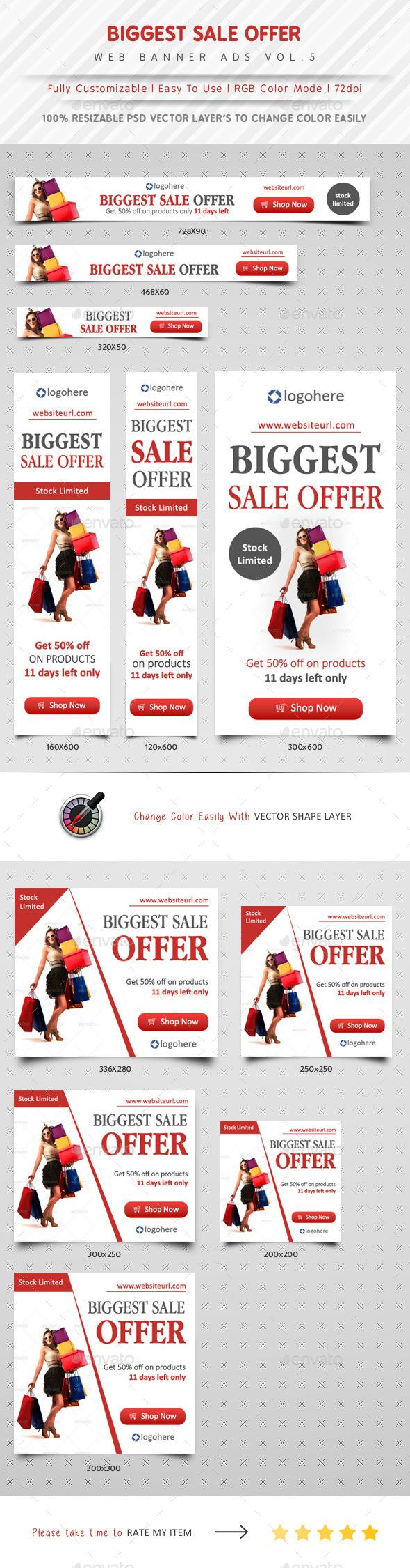 GraphicRiver Biggest Sale Offer Web Banner Vol.5 11337245